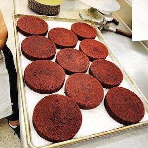 Red Velvet Sweet Potato Cake!